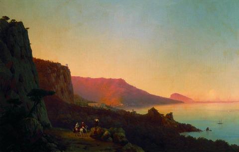Вечер в Крыму. Ялта - 1848 год