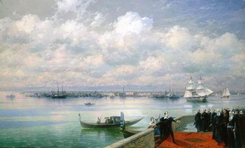 Посещение Байроном мхитаристов на острове Св. Лазаря в Венеции - 1899 год