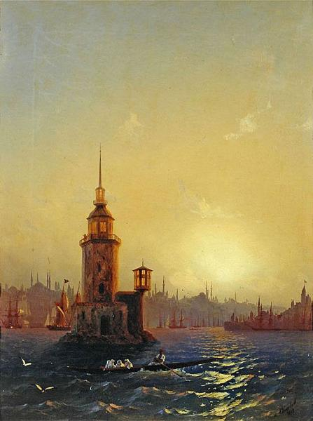Вид Леандровой башни в Константинополе - 1848 год